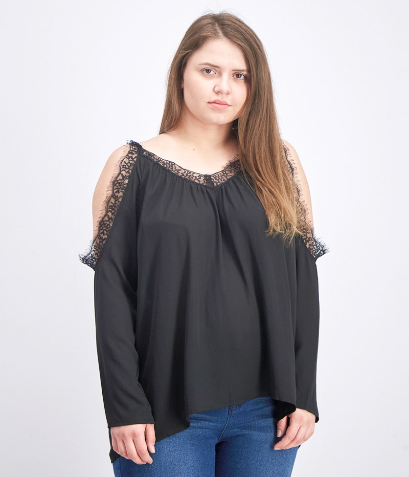 Women's Cold Shoulder Lace Top, Unico