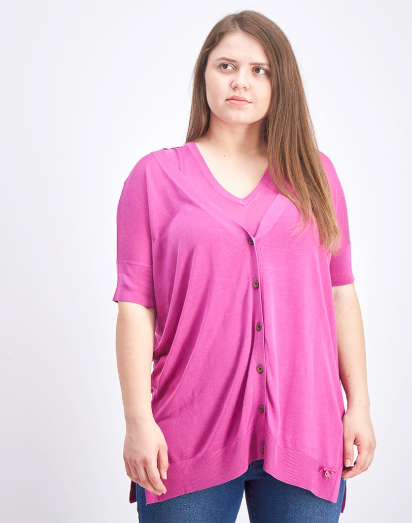 Women's With Inner Tank Top and Cardigan, Purple