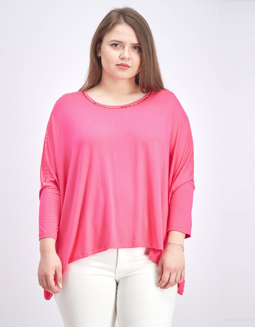 Women's Studded Sleeve Tops, Pink