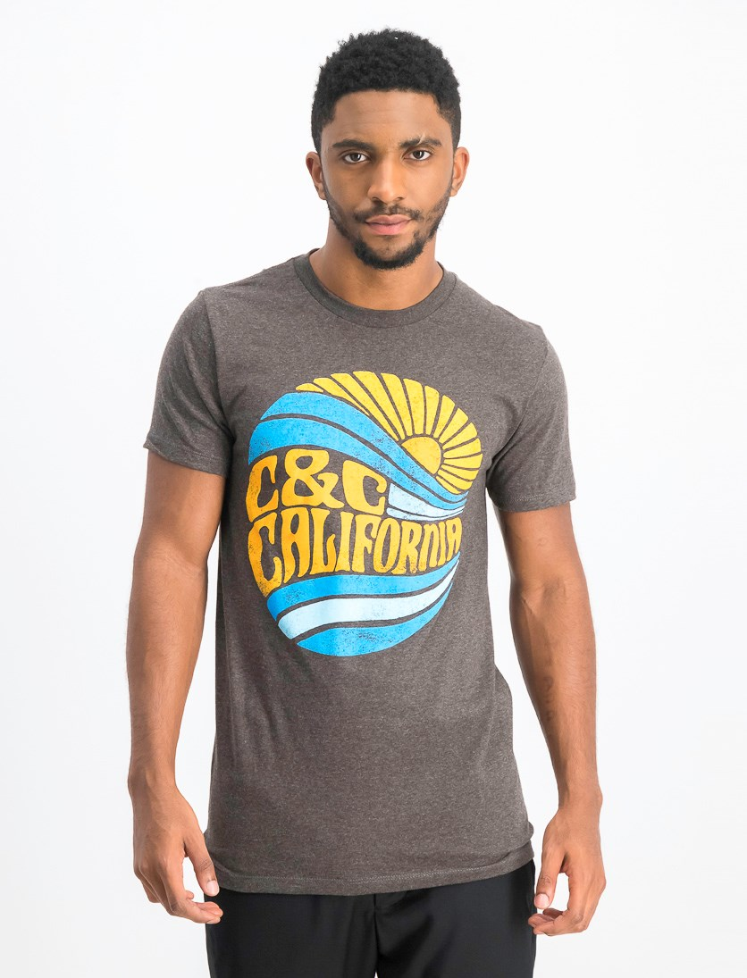 Men's Sunny Daze T-shirt, Charcoal Heather