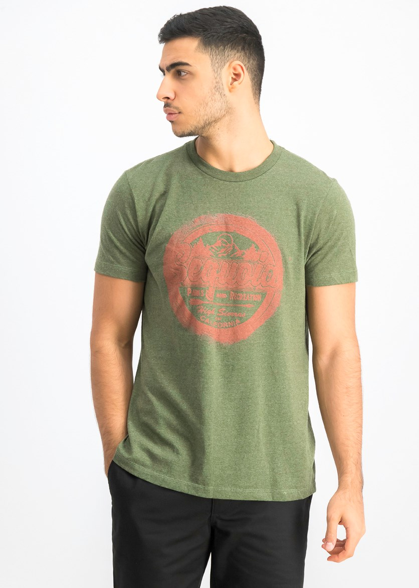 Men's Graphic T-shirt, Forest Green