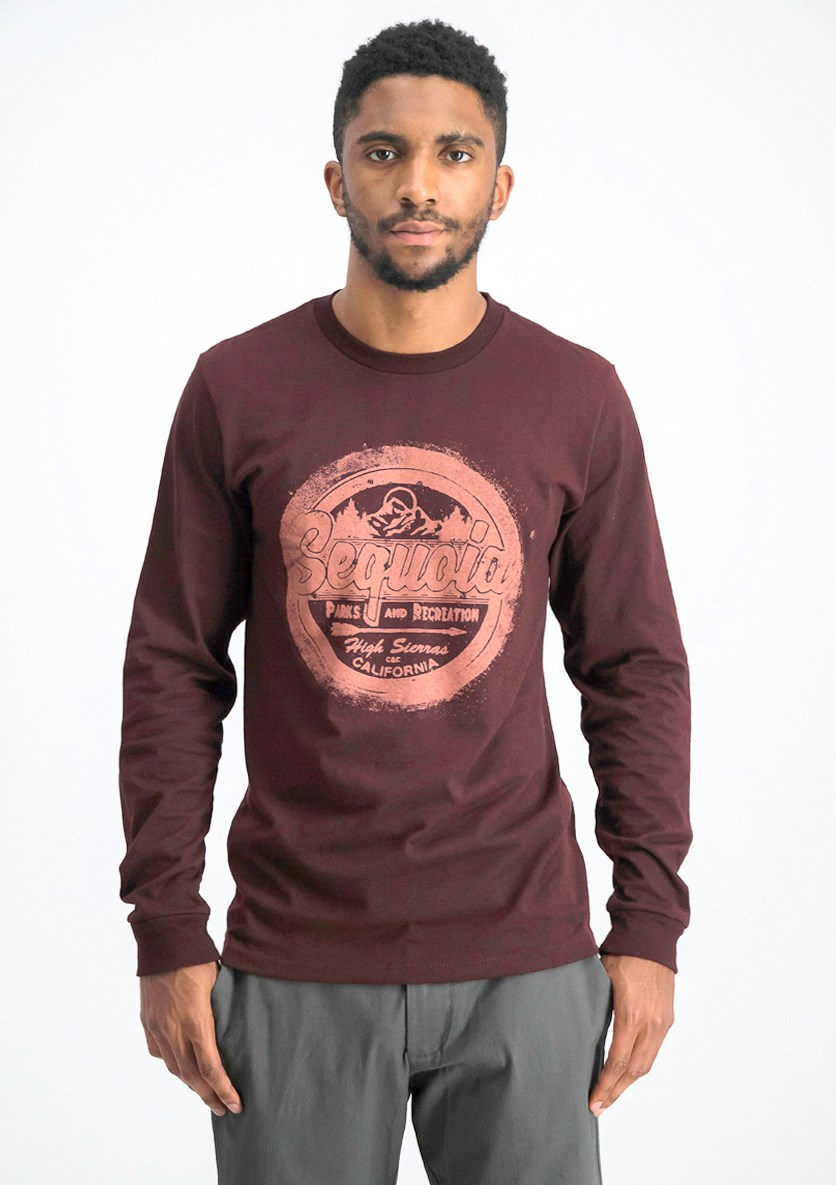 Men's Graphic Printed T-shirt, Maroon