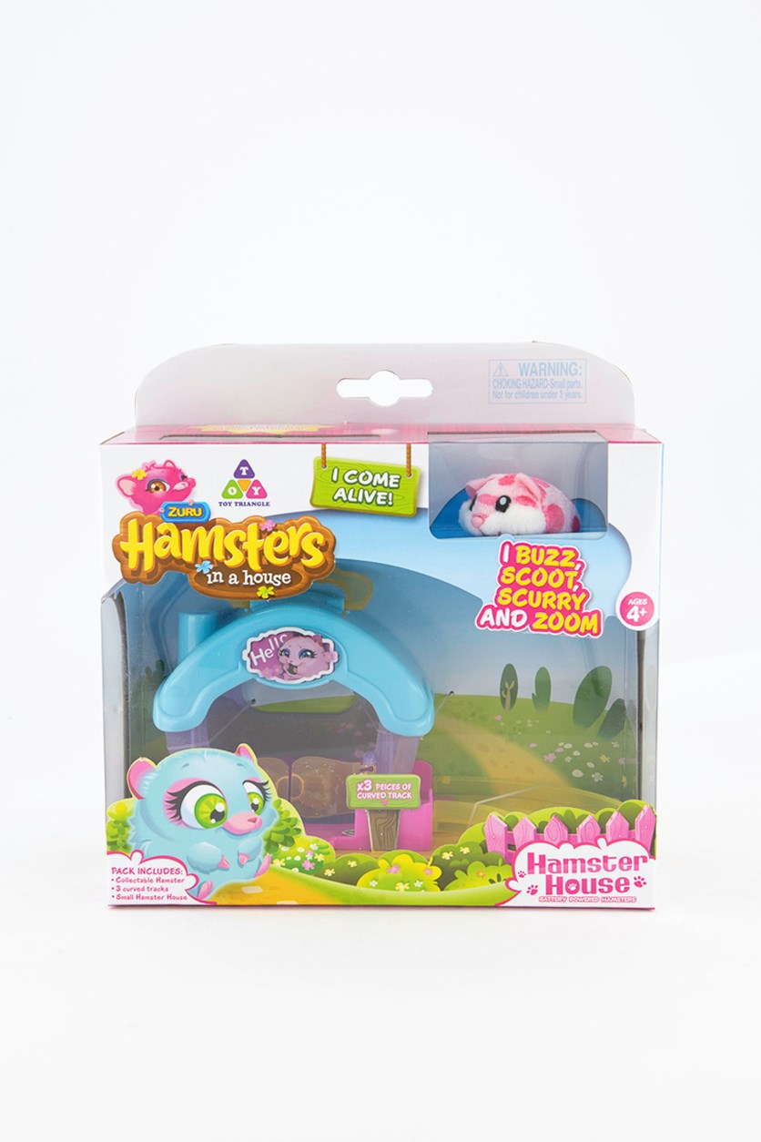Hamster Sprinkles In A House Playset, Blue Combo