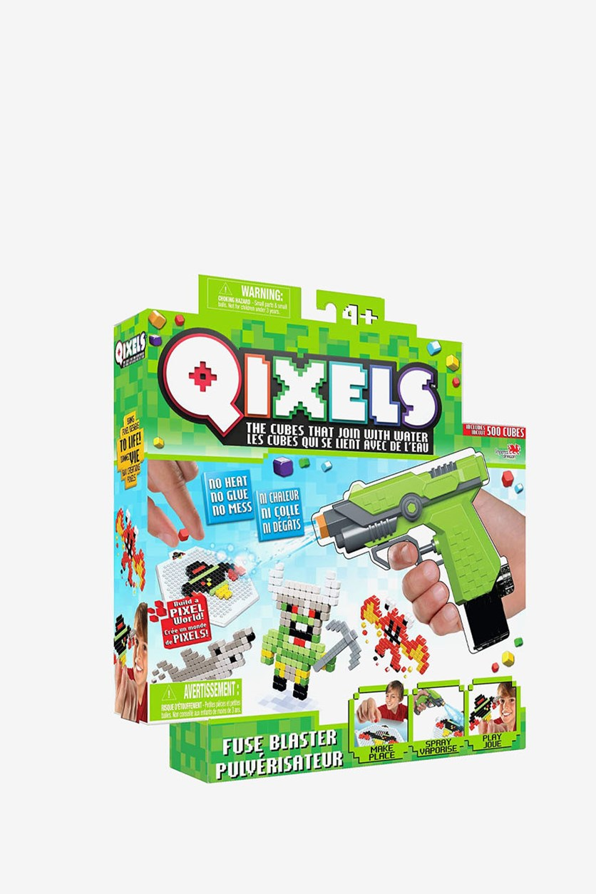 Moose Toys Qixels Fuse Blaster, Lime Green Combo
