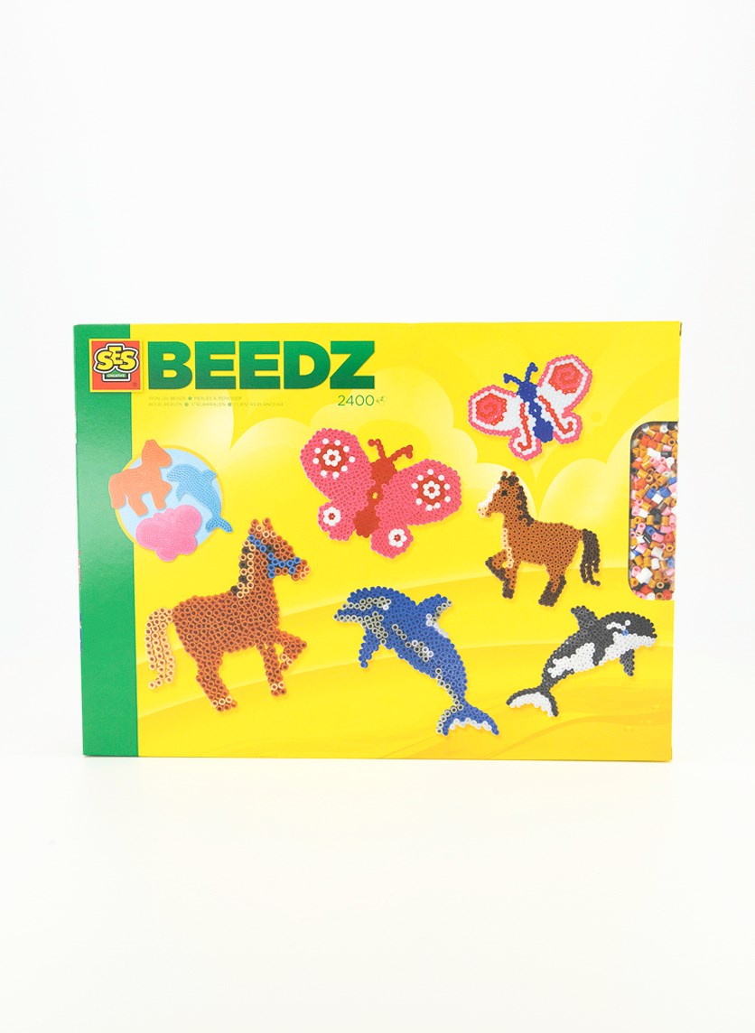 Ironing Pearl Set Animals, Yellow Combo