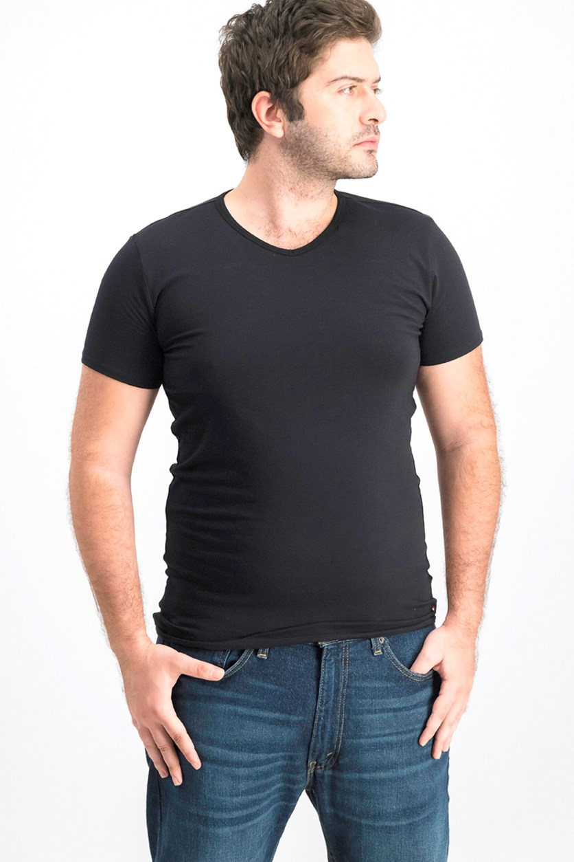 Men's 3pcs V-Neck Shirt, Black
