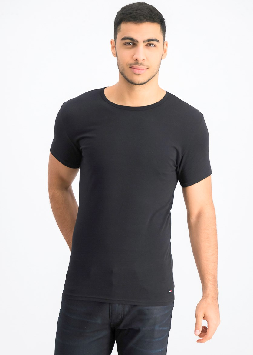 Men's 3 Pack Crew Neck Shirt, Black