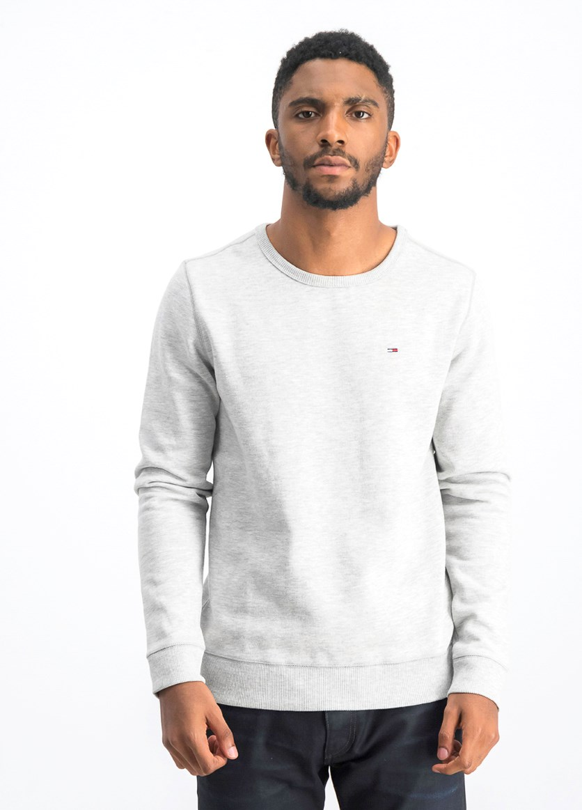 Men's Pullover Sweater, Grey Heather