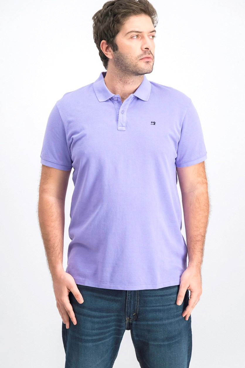 Men's Short Sleeve Polo Shirt, Purple