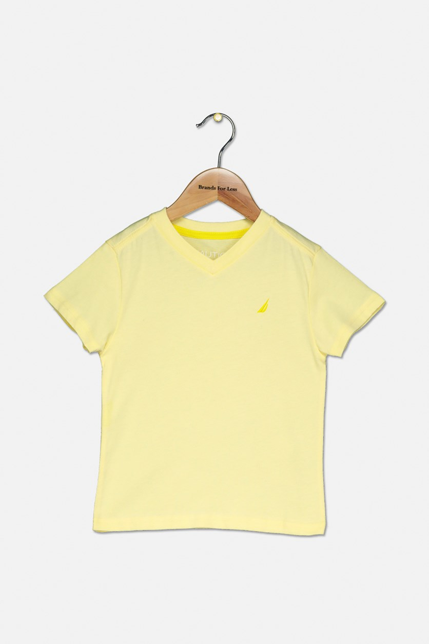 Toddler Boys V-Neck Shirt, Light Yellow