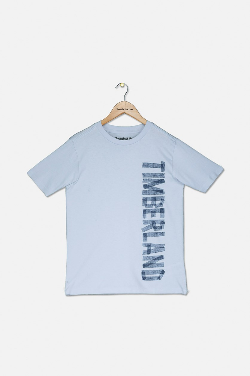 Boy's Short Sleeve Graphic T-Shirt, Pale Blue