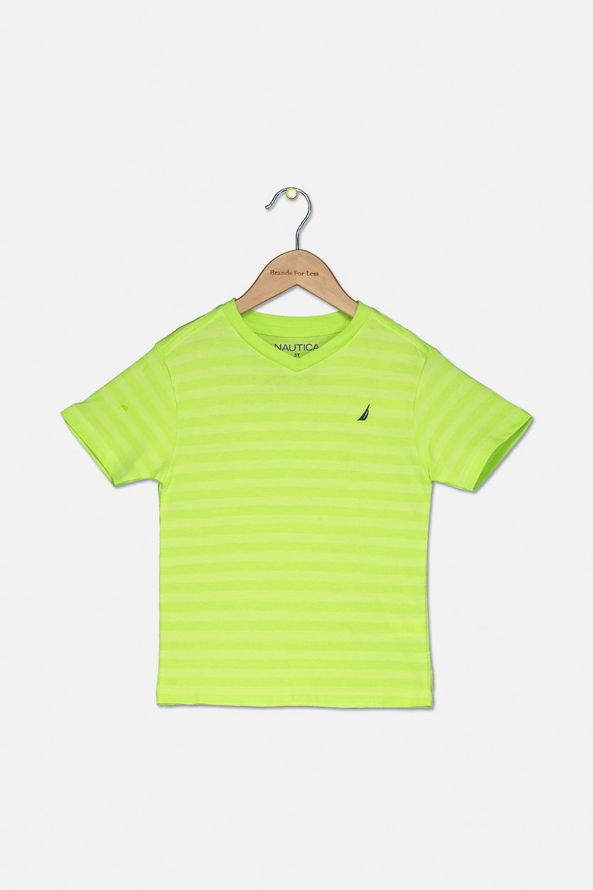 Baby Boy's Stripe Tee, Lime Green
