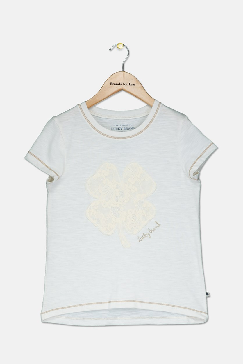 Kids Girls Airianne T-Shirt, Whisper White