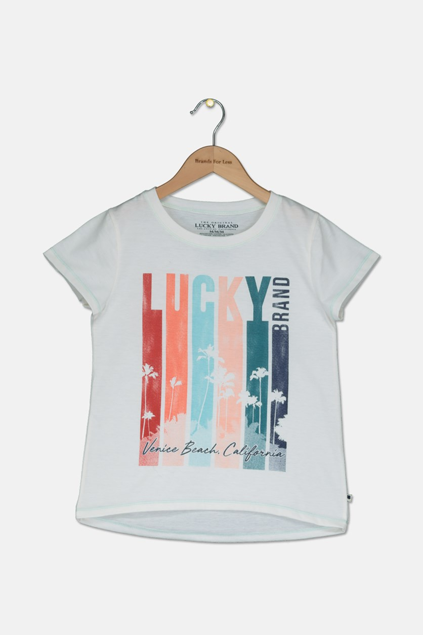 Girls Cirellean Graphic T-Shirt, Whisper White