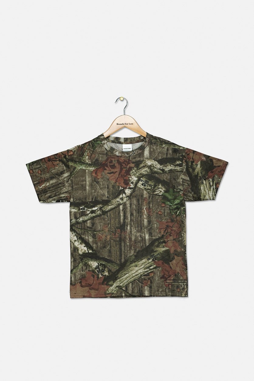 Boy's Printed T-Shirt, Olive Combo