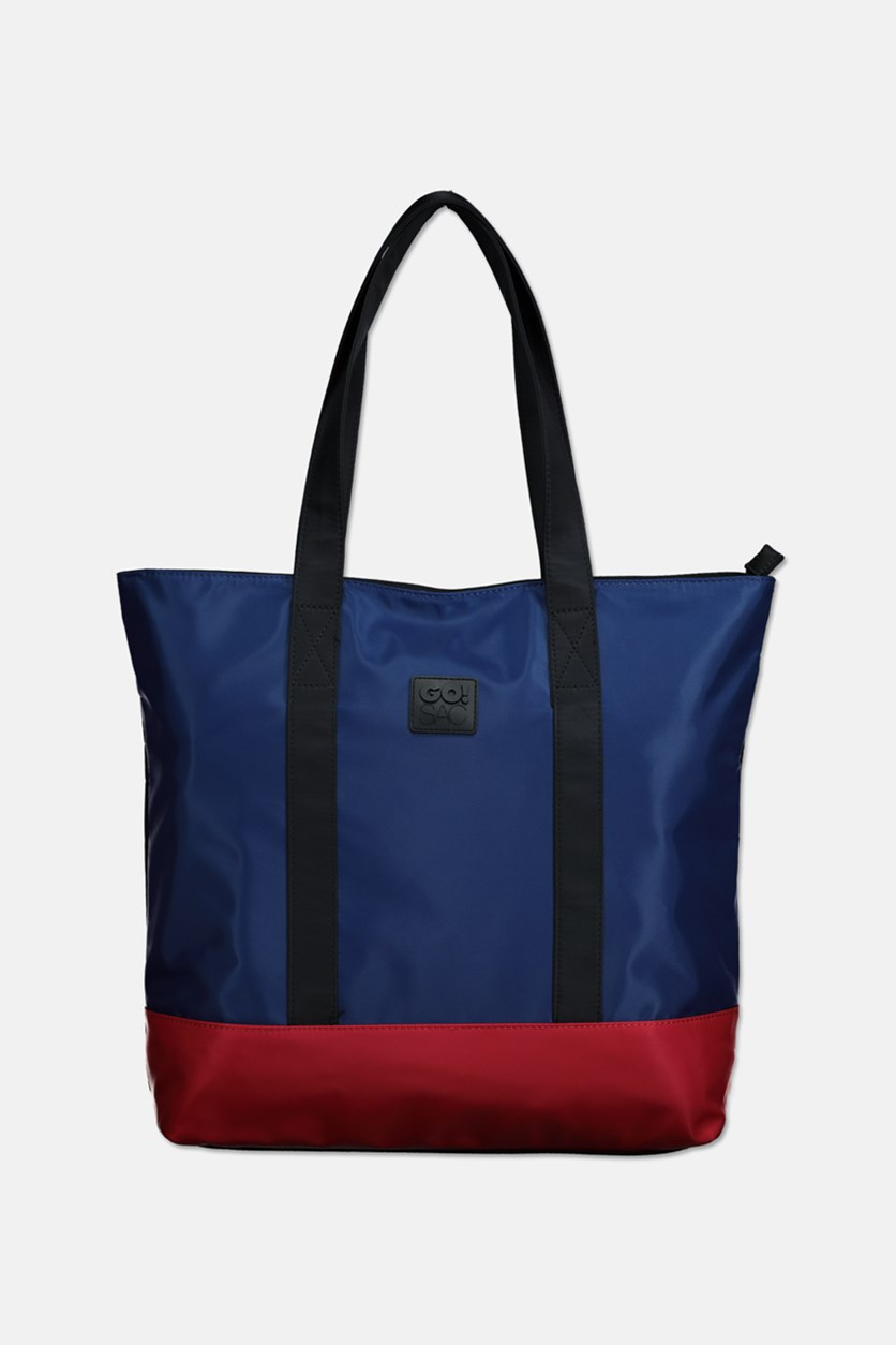 Women's Angelina Tote Bag, Navy Combo