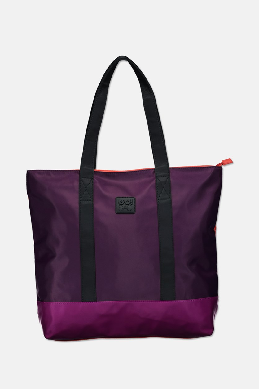 Women's Angelina Tote Bag, Coral/Purple