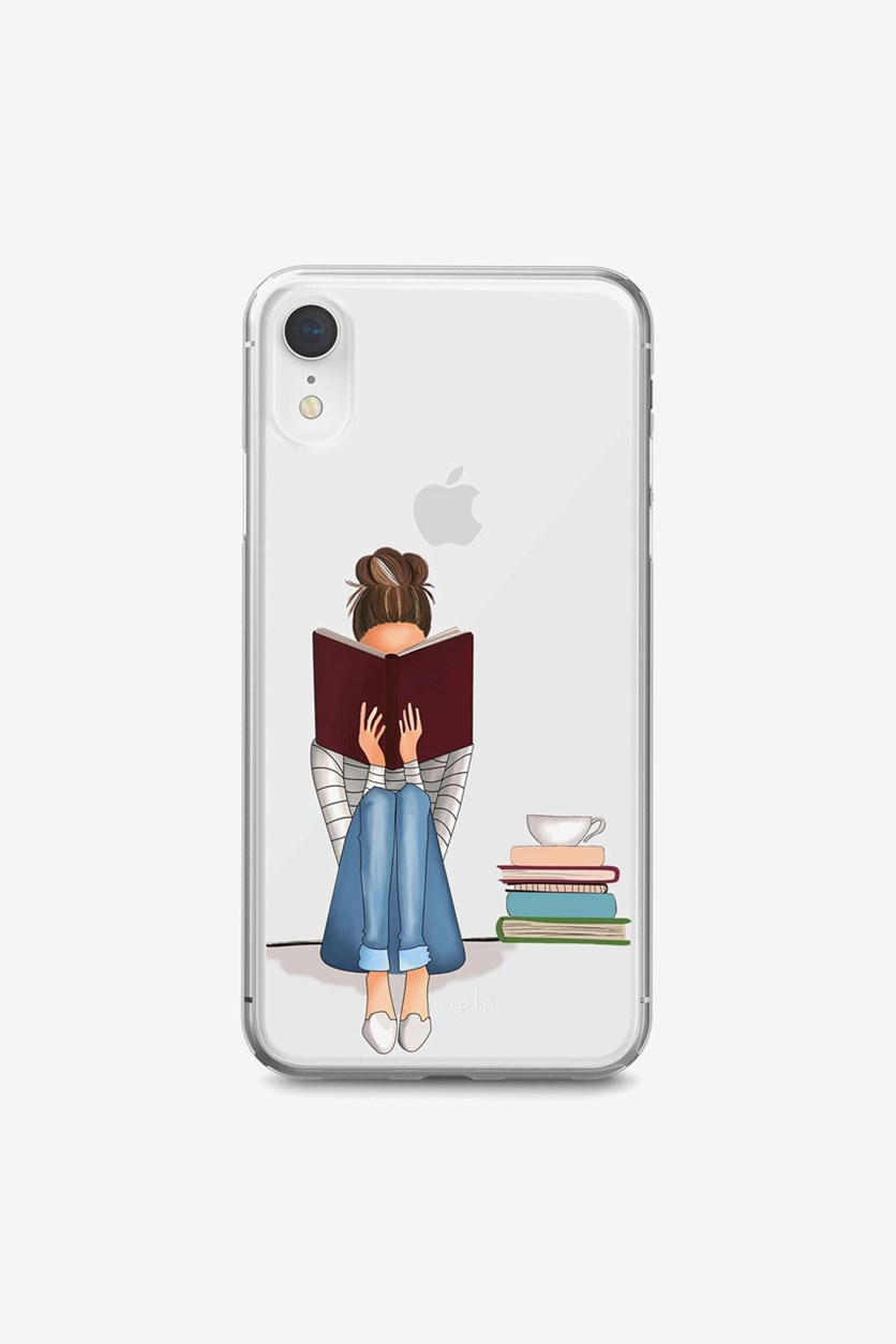 iPhone XR Bookworm Hard Case, Clear