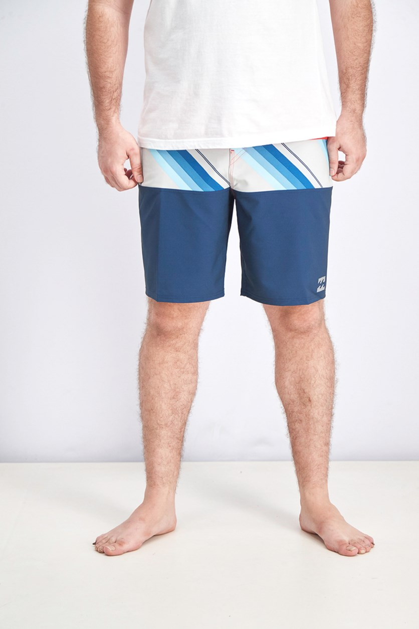 Men's Tribong X Board Shorts, Navy/Red Combo