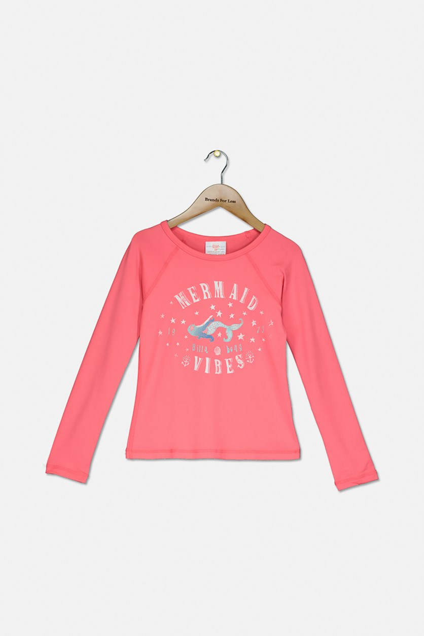 Kid's Girl Sol Searcher Long Sleeve Rashguard, Tropical Punch