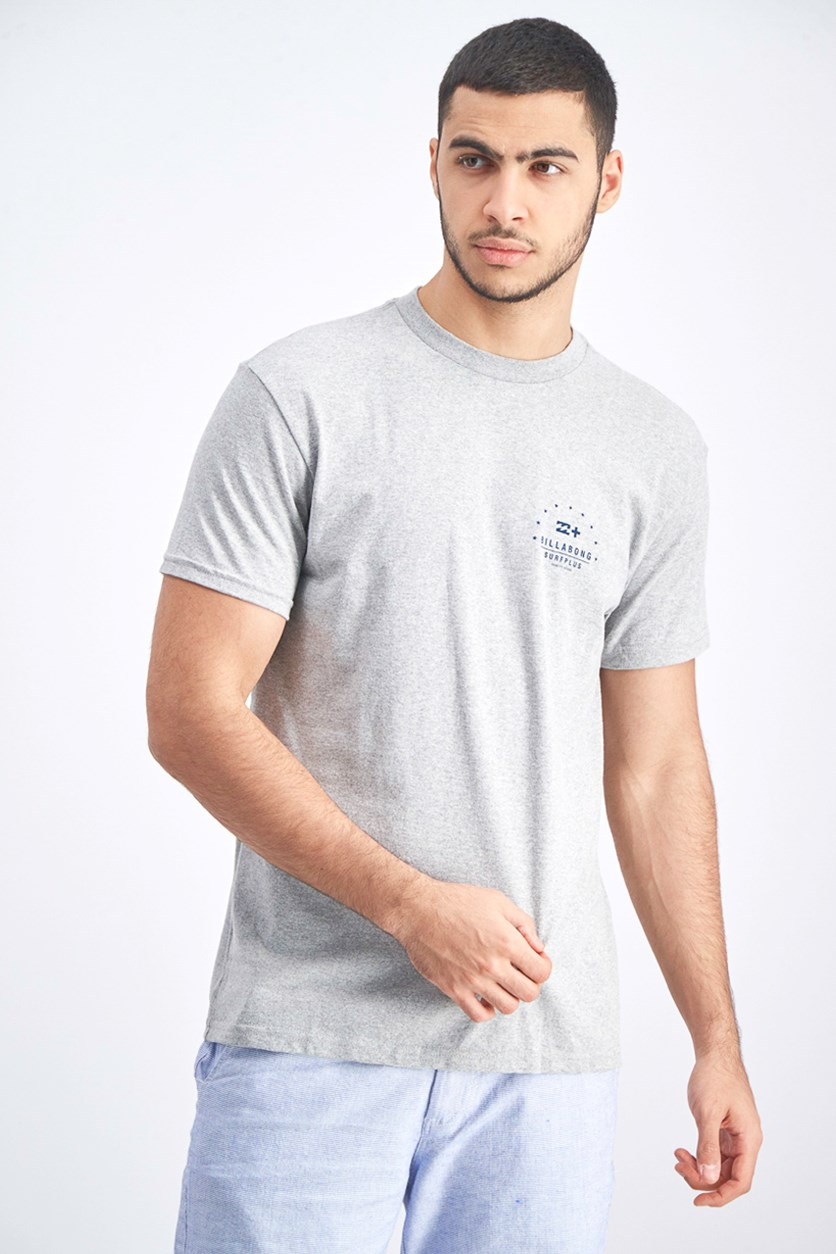 Men's Sea Split T-Shirt, Heather Light Grey