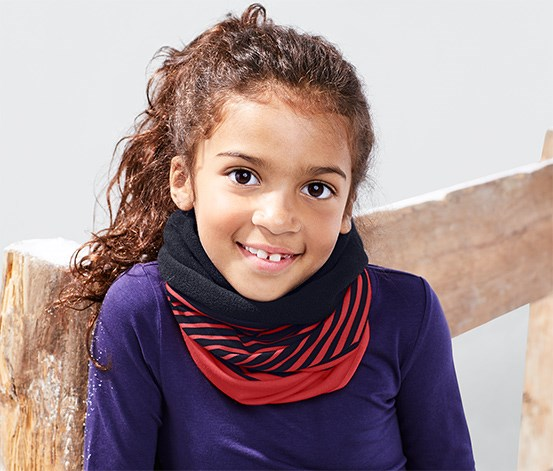Kids Girls Multipurpose Handscarf, Red