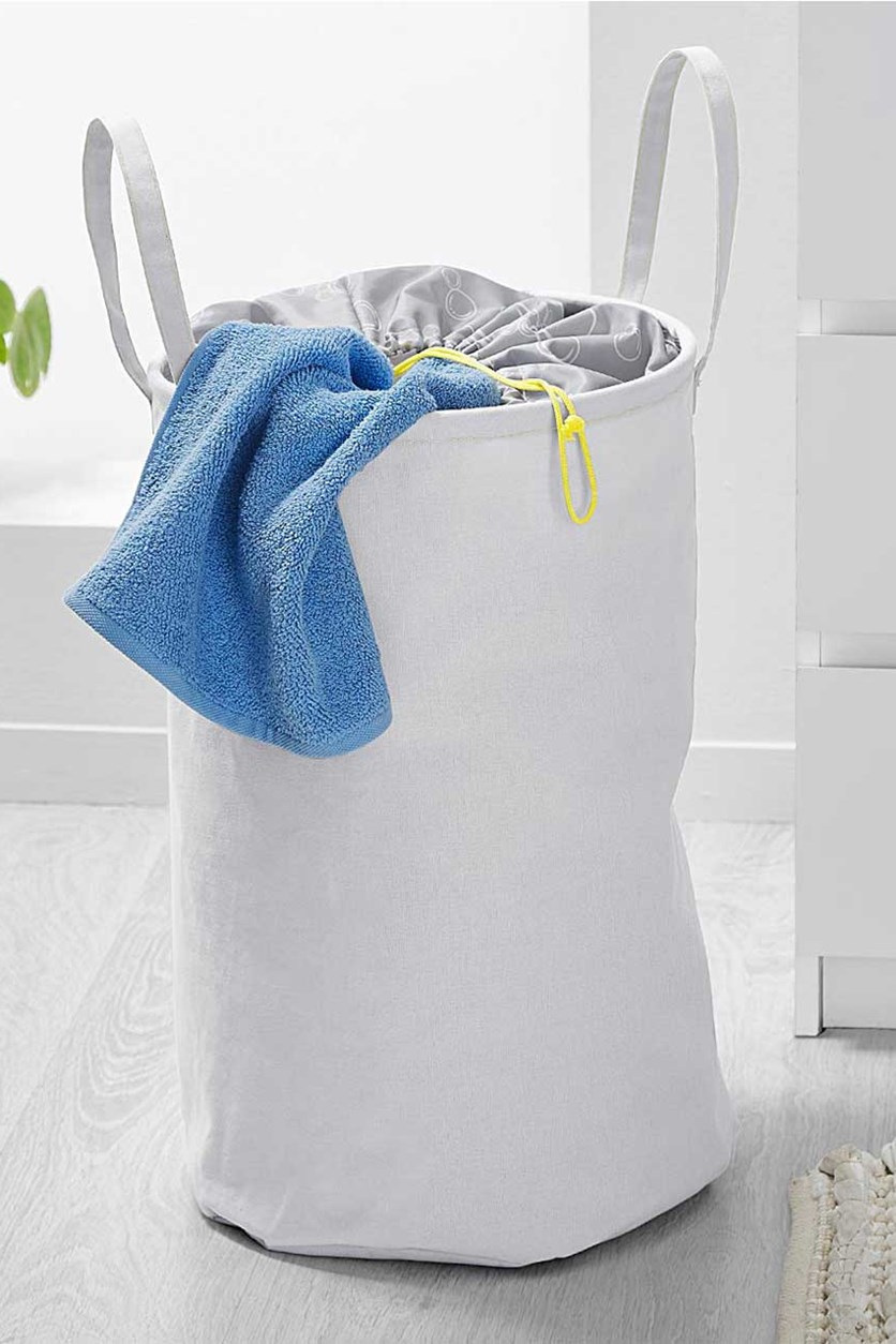 Cloth Laundry Basket, Grey