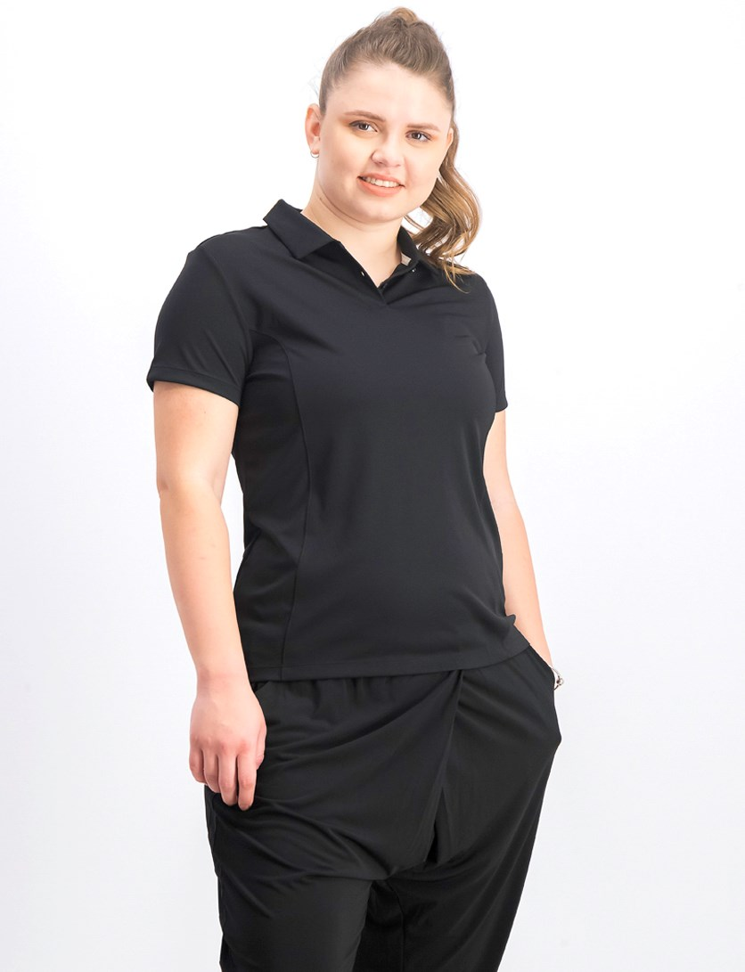 Women's Essential Pounce Polo, Black