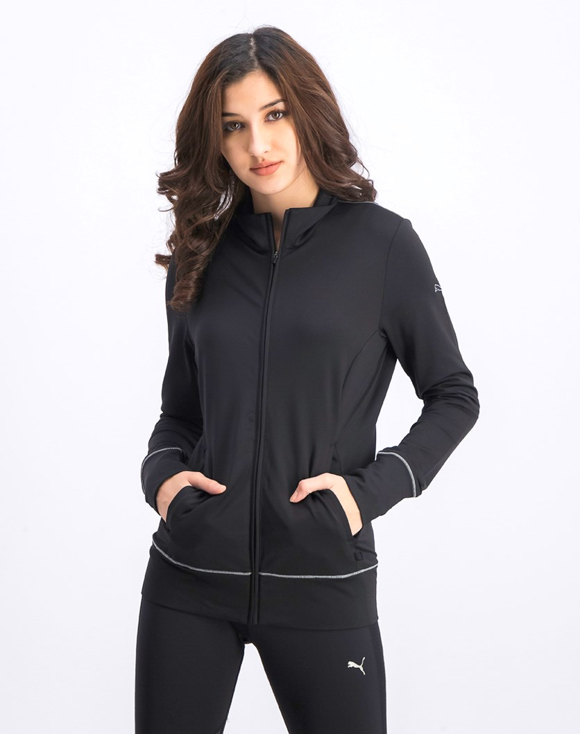 Women's Golf Track Jacket, Black