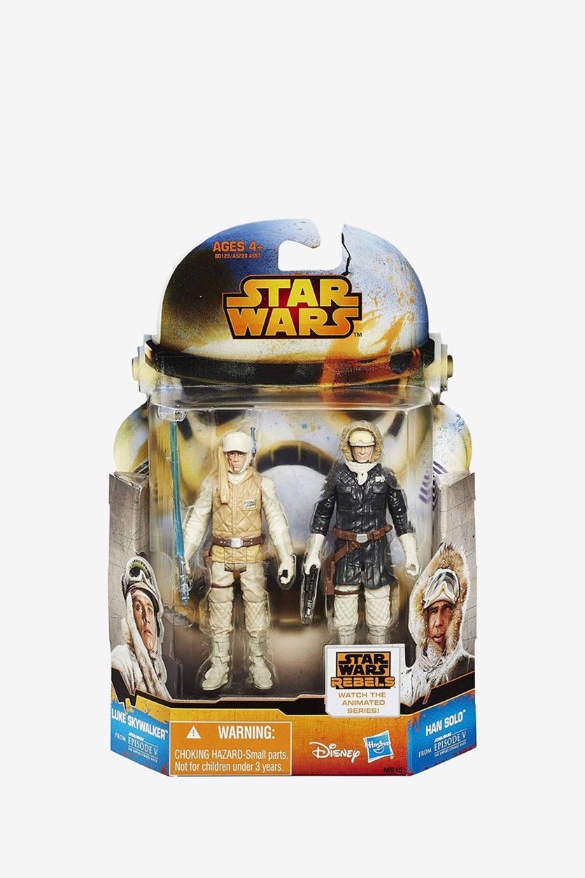 Mission Luke Skywalker And Han Solo Figure, Black/Beige