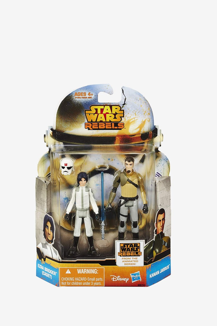 Star Wars Mission Ezra Bridger And Kanan Figure, White/Grey