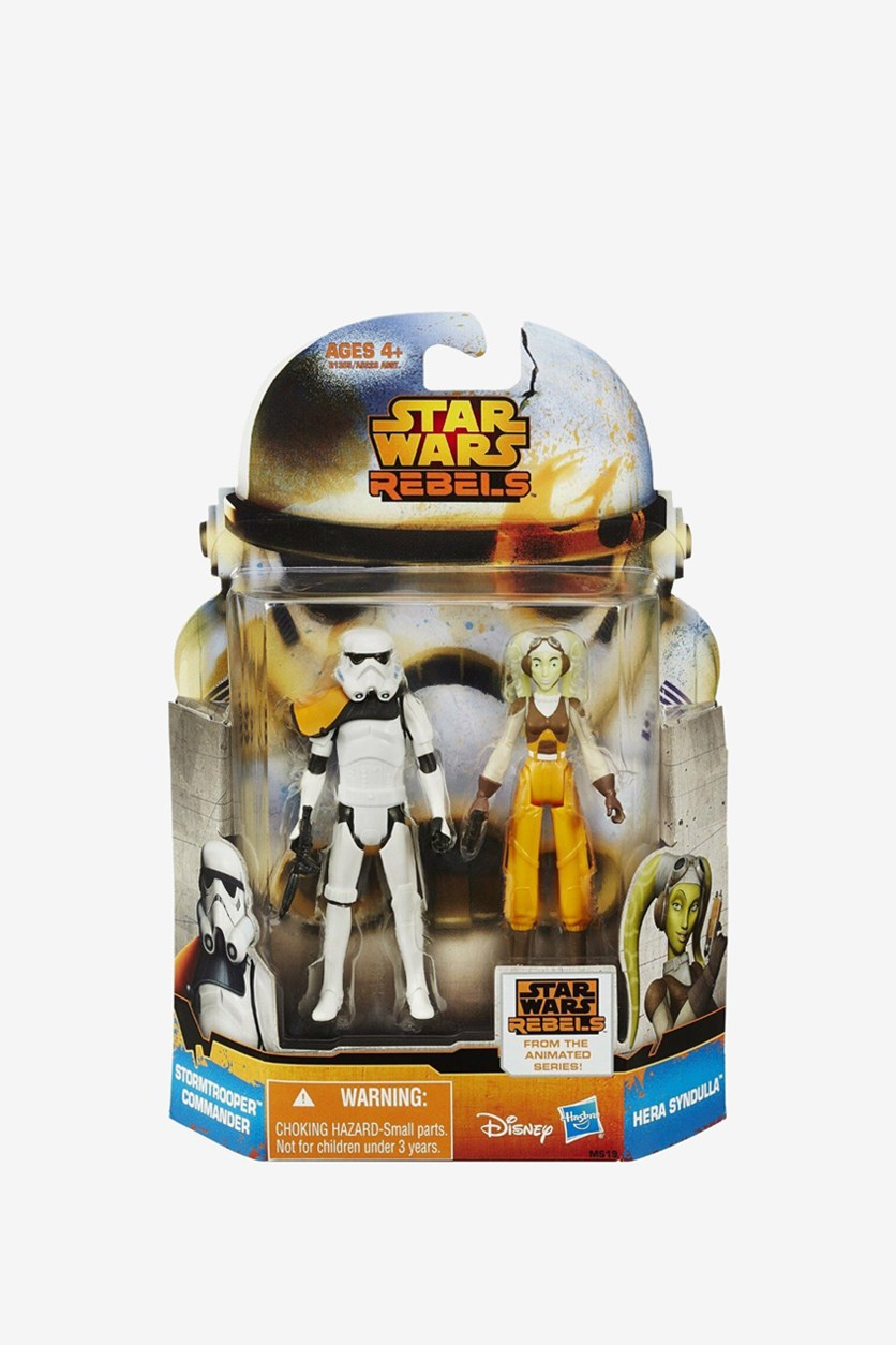 Star Wars Mission Stormtrooper and Hera Figure, White/Orange