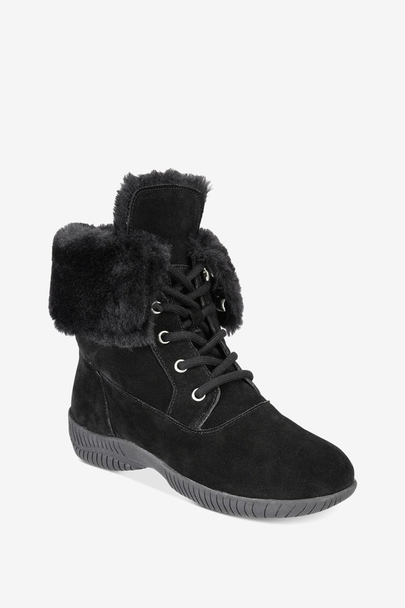 Women's Angiee Lace-Up Cold Weather Boots, Black