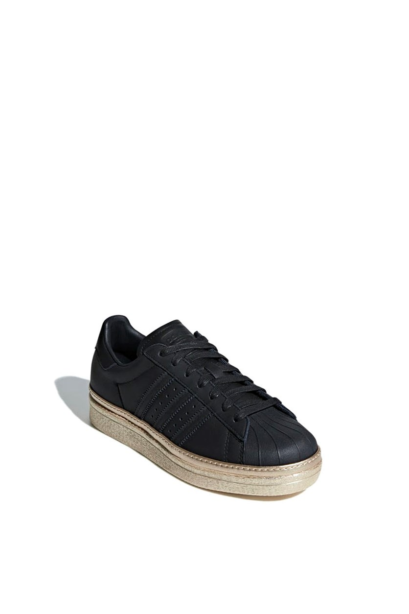 Women's Superstar 80S New Bold Shoes, Black/Gold Mettalic