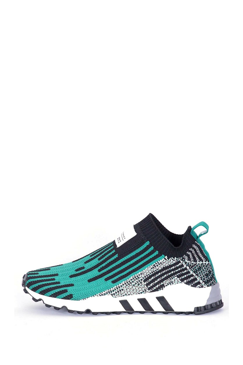 Men's Support Shoes, Black/Green