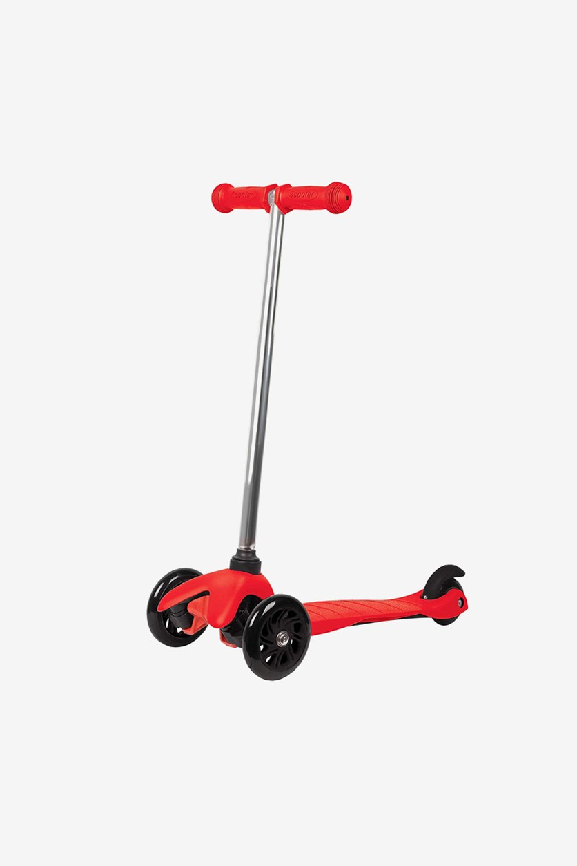 Boys & Girls 3 Wheel Mini Scooter, Red