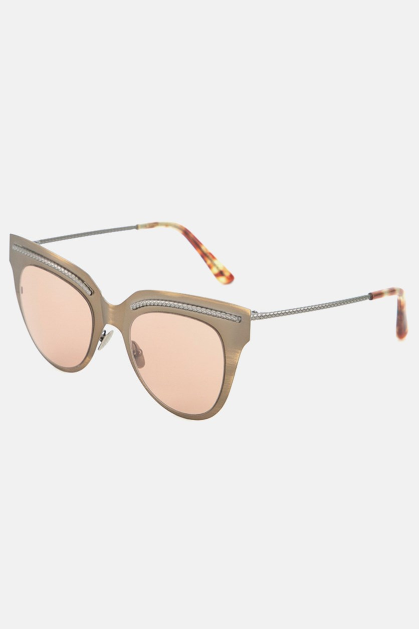 Women's BV0029S-004 Sunglasses, Taupe/Brown