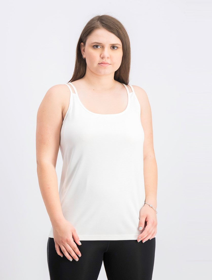 Women's Double Strap Tank, White