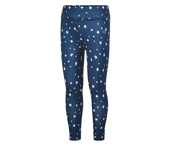 Champion Girl's Star-Print Capri Leggings, Navy
