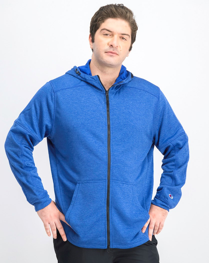 Men's Spark Full Zip Hooded Jacket, Royal BLue