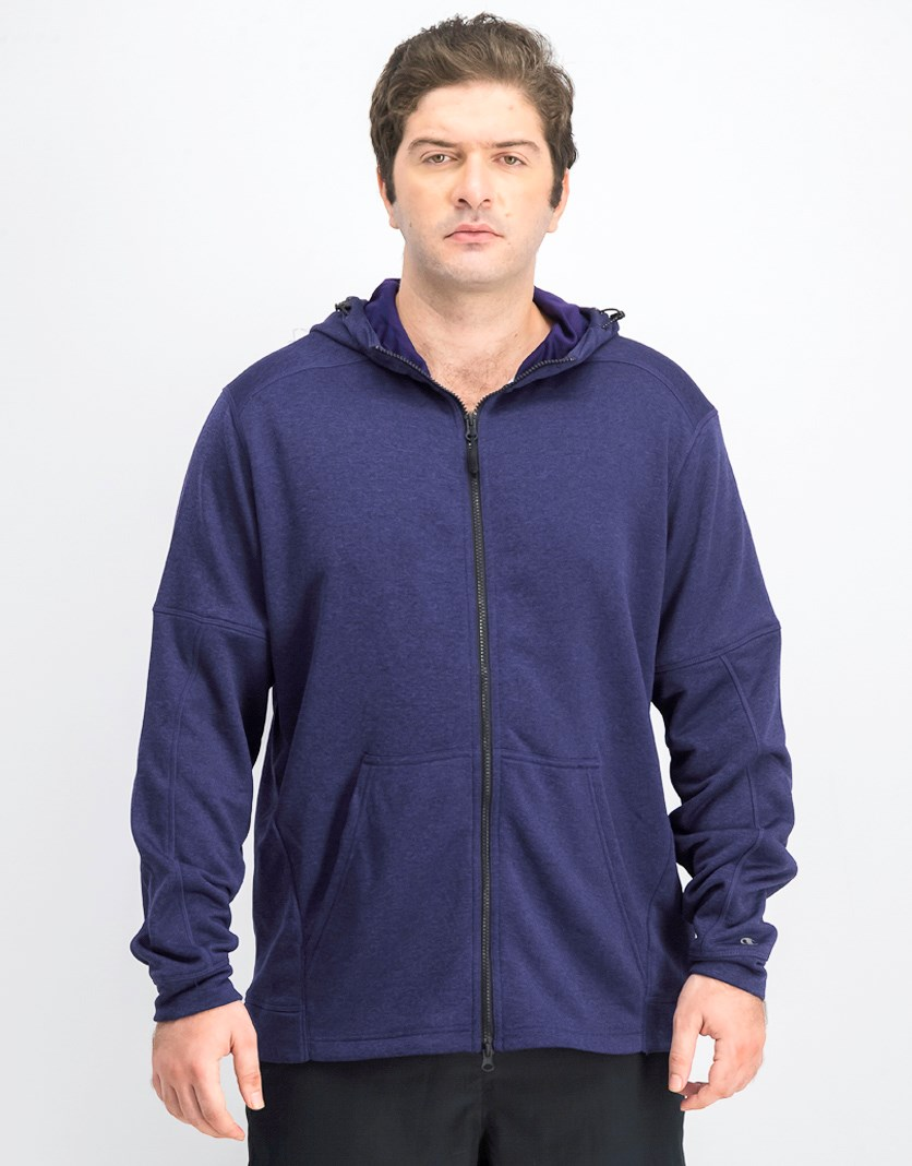 Men's Spark Full Zip Hooded Jacket, Purple