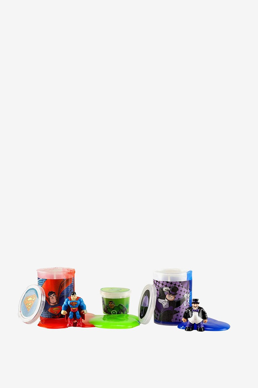 Superman and Penguin Jelly Slime Tripack, Red/Green/Blue