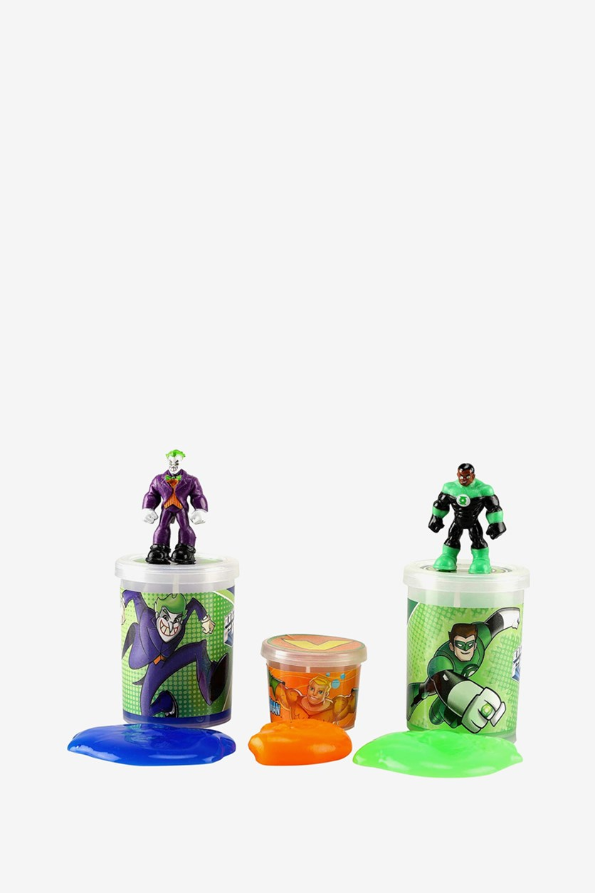 The Joker And Green Lantern Jelly Slime Tripack, Blue/Green/Orange