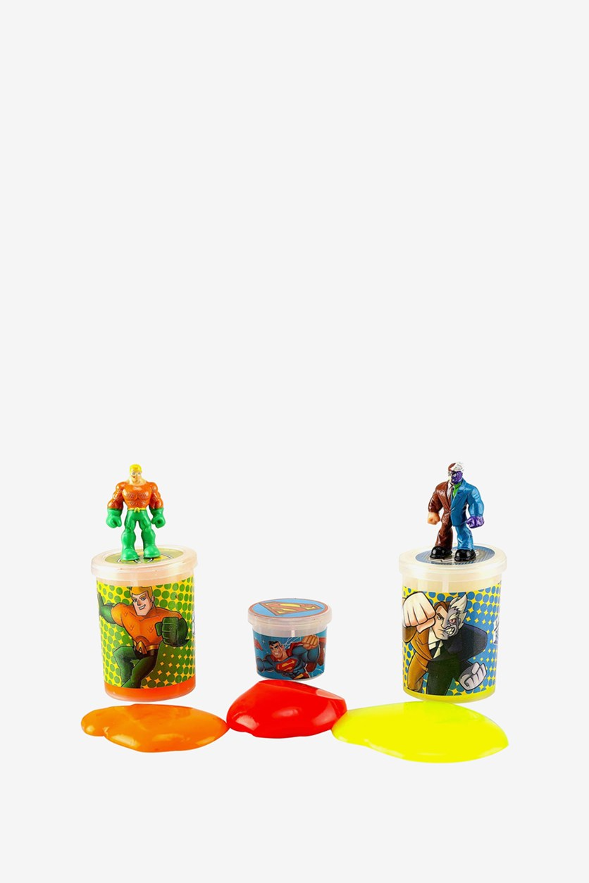 Two Face and Aquaman Jelly Slime Tripack, Orange/Yellow/Red