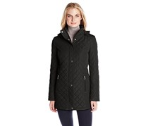 Calvin Klein Women's Classic Quilted Jacket with Side Tabs, Black