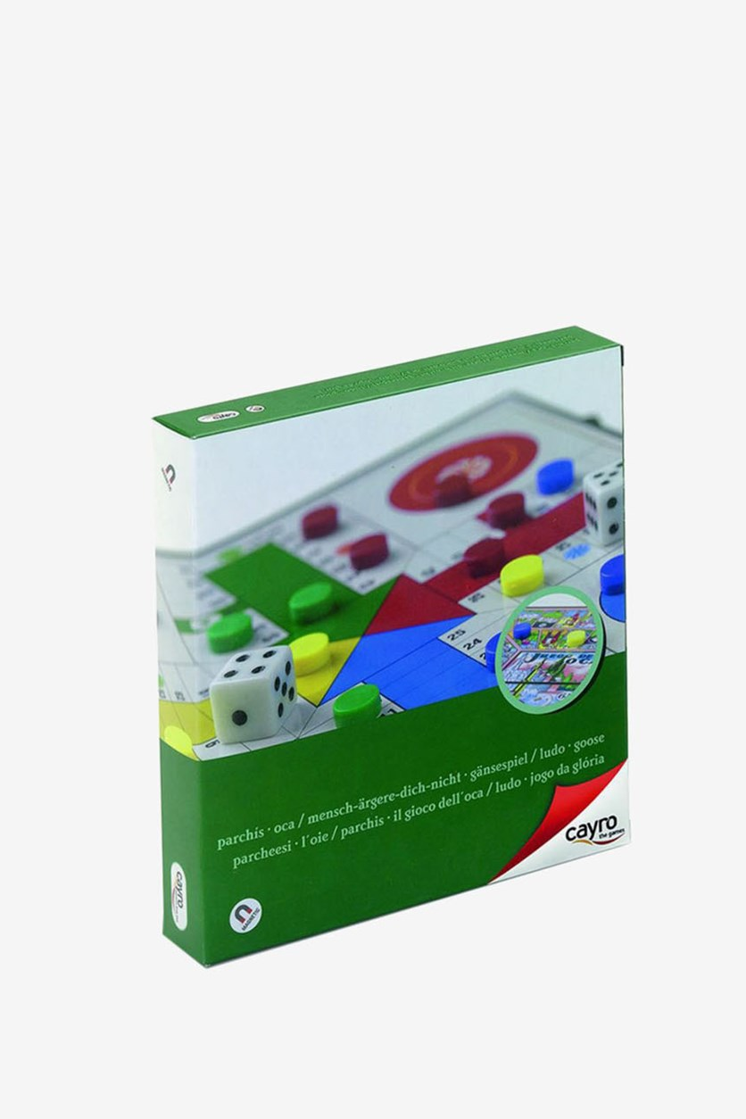 Magnetic Ludo And Goose Board Game, Green Combo