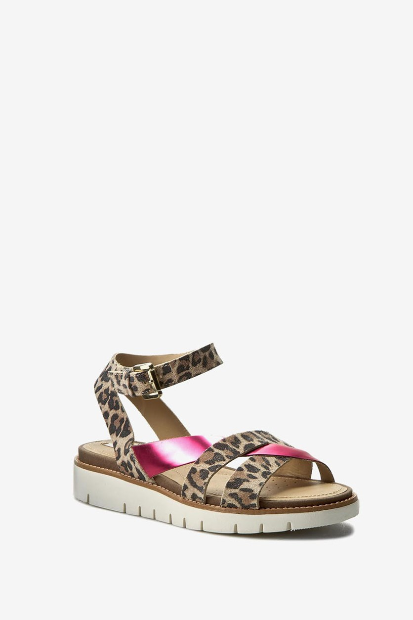 Women's D Darline Sandals, Taupe/Coral