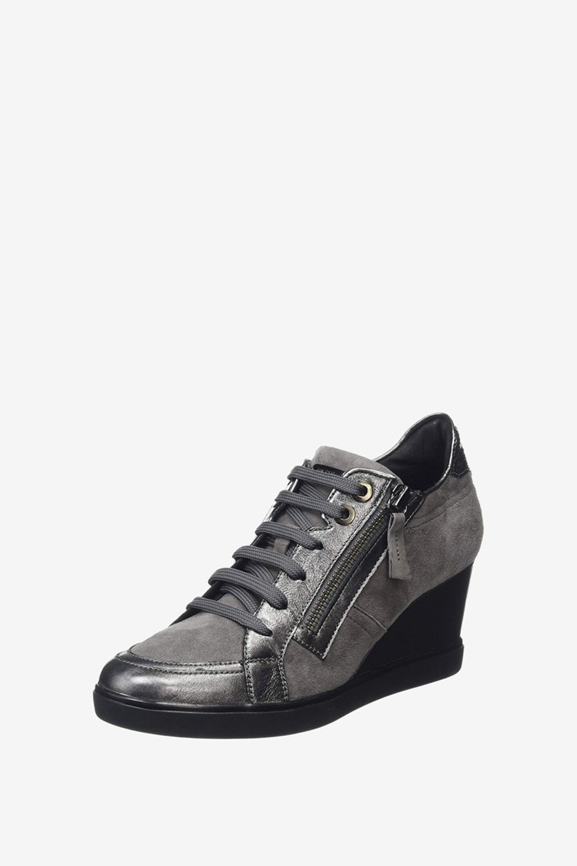 Women's D Eleni Wedges, Gunmetal/Dark Grey