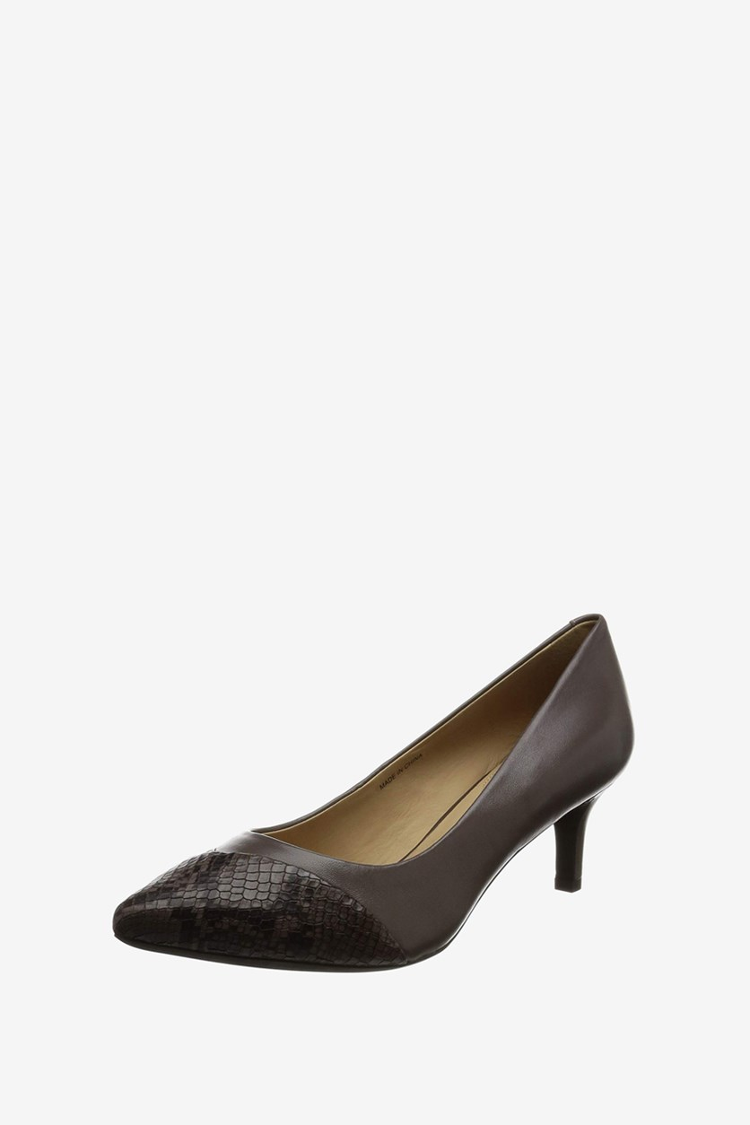 Women's D Elina Pumps, Taupe/Chestnut