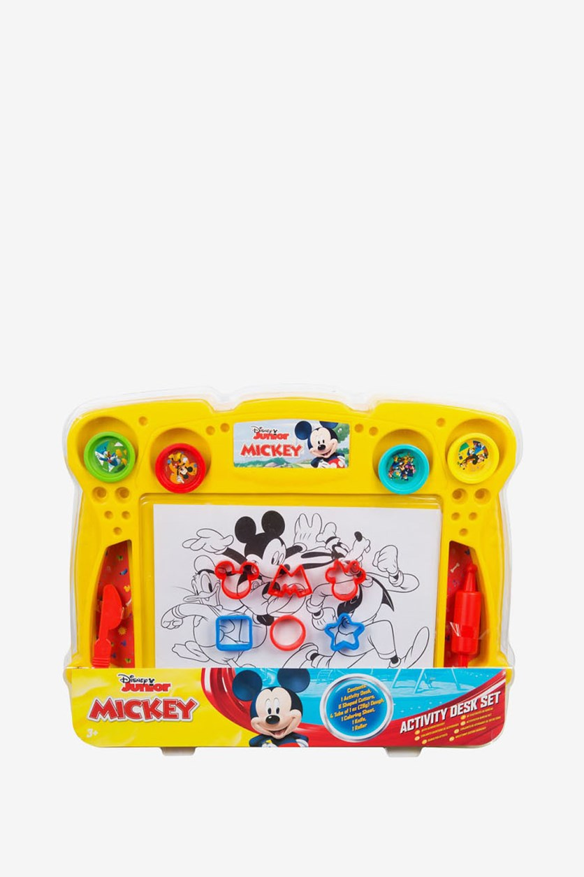 Mickey Roadster Dough Activity Desk Set, Yellow